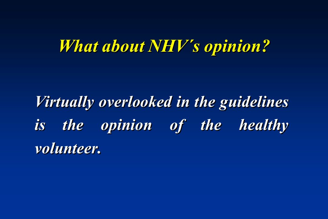 What about NHV´s opinion