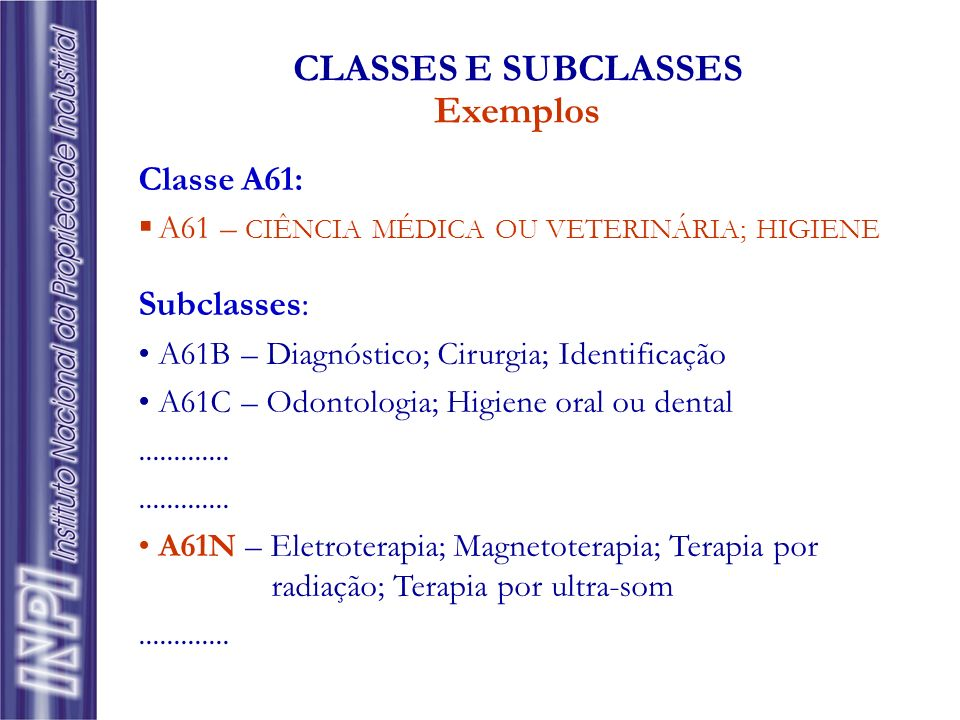 CLASSES E SUBCLASSES Exemplos