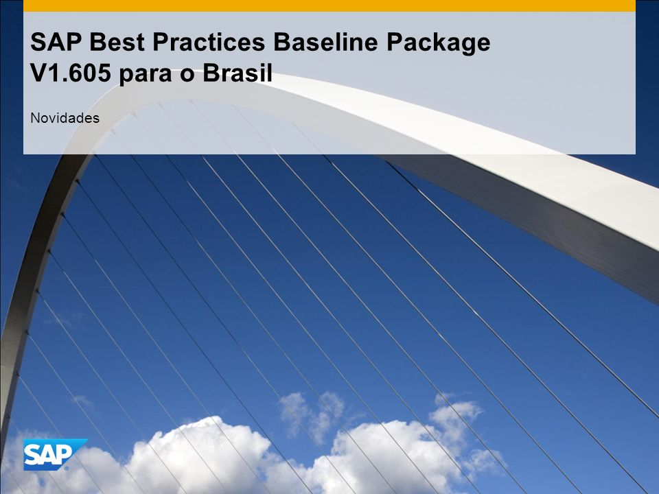 SAP Best Practices Baseline Package V1.605 para o Brasil