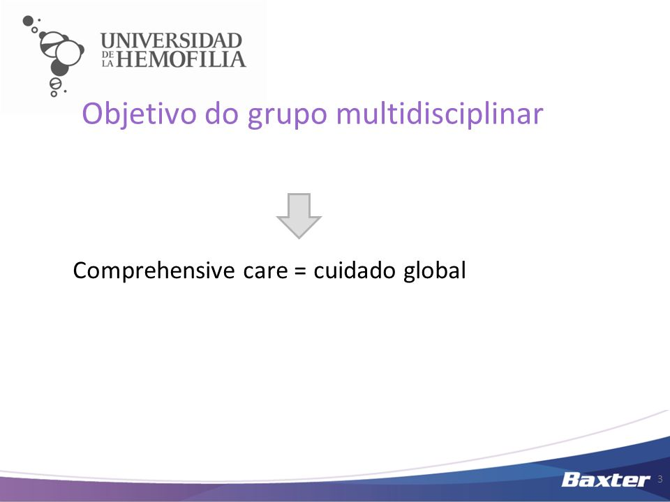 Objetivo do grupo multidisciplinar