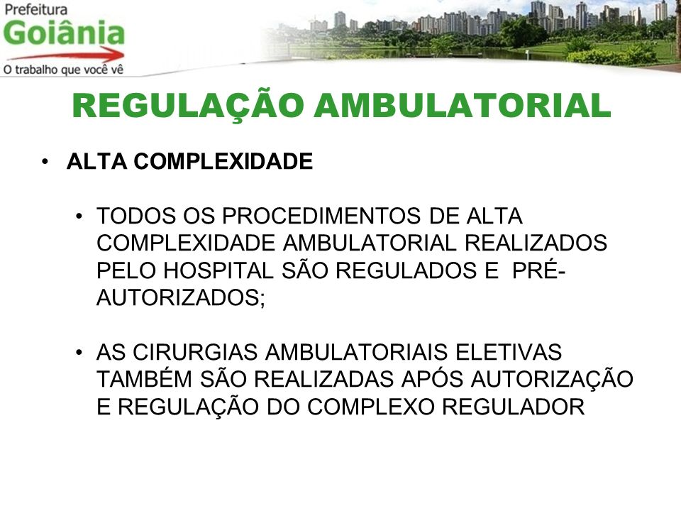 REGULAÇÃO AMBULATORIAL