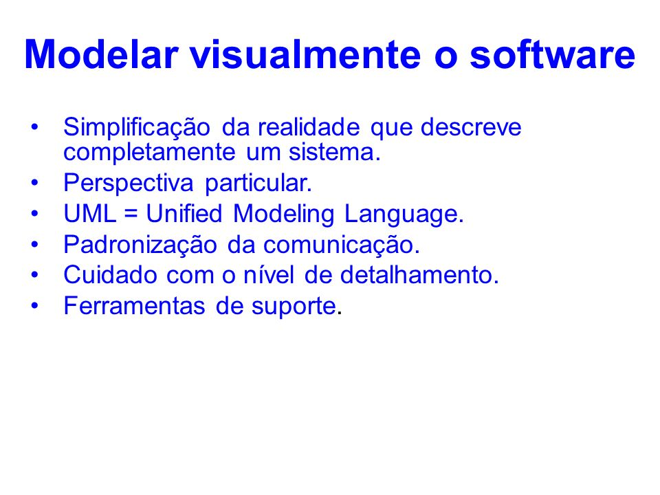 Modelar visualmente o software