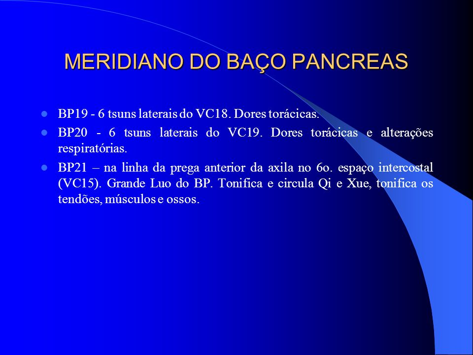 MERIDIANO DO BAÇO PANCREAS