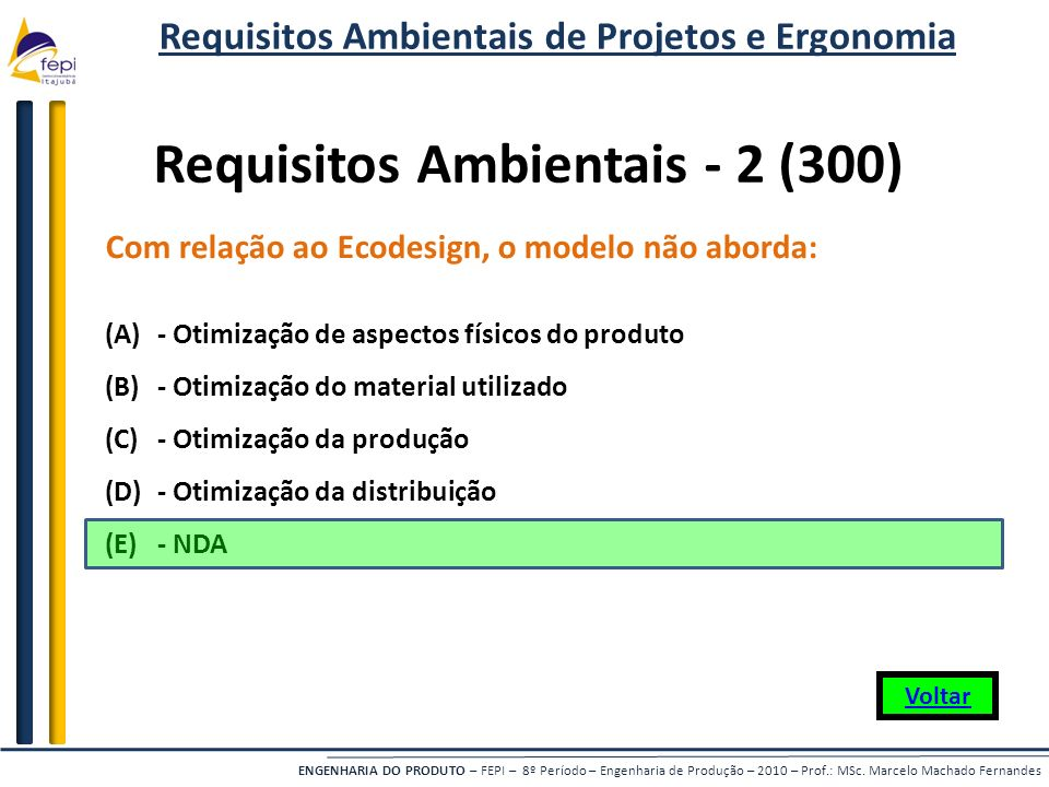 Requisitos Ambientais - 2 (300)