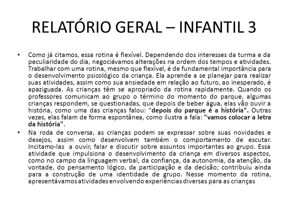 Relatório Geral Infantil 3 1º Semestre Ppt Video Online Carregar