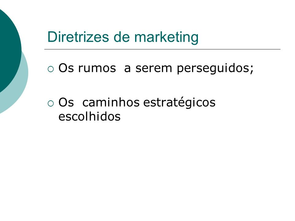 Diretrizes de marketing