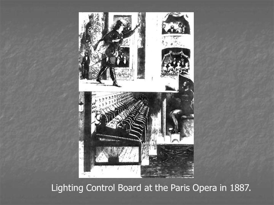 Lighting Control Board at the Paris Opera in 1887.