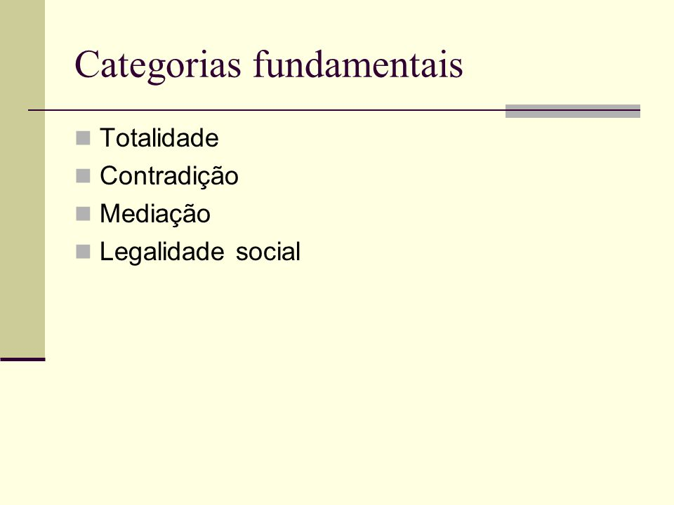 Categorias fundamentais