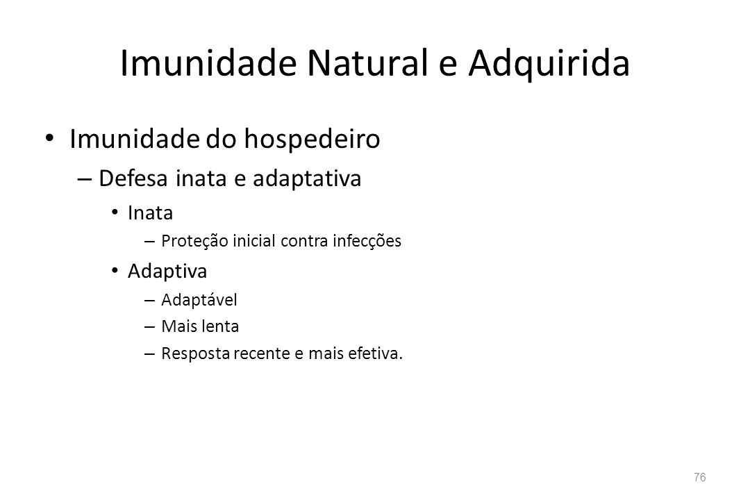 Imunidade Natural e Adquirida