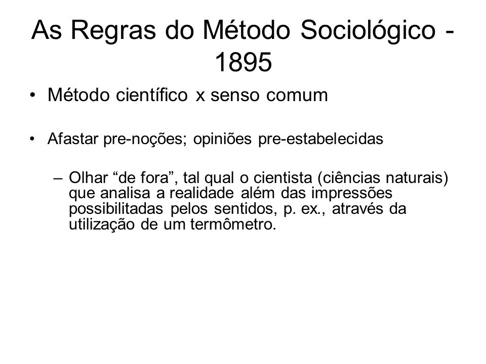 As Regras Do Metodo Sociologico Pdf