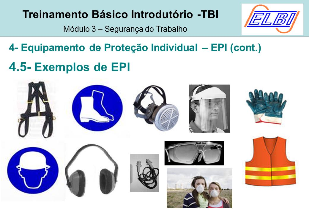 dba81c1a84ca3 4- Equipamento de Proteção Individual – EPI (cont.)