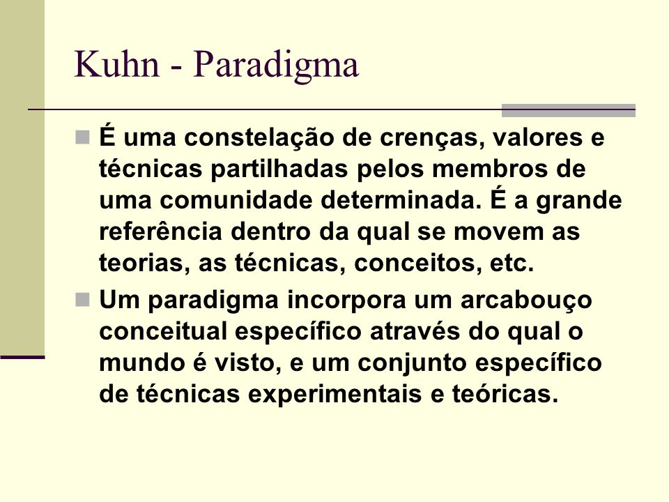 Thomas Kuhn Paradigme