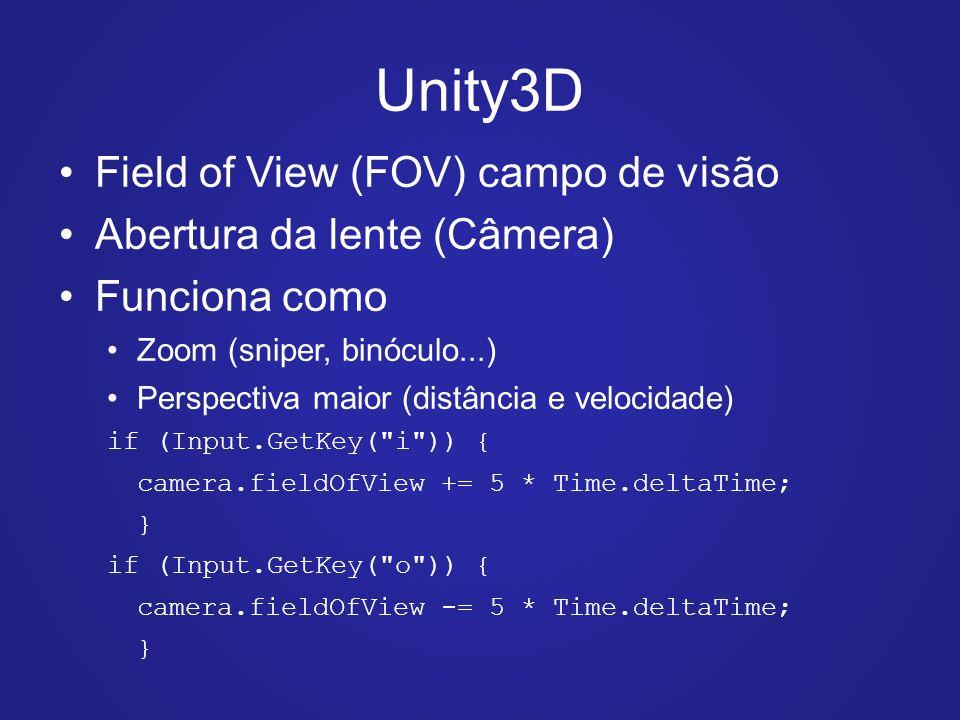 Unity 3D: Câmeras  - ppt carregar